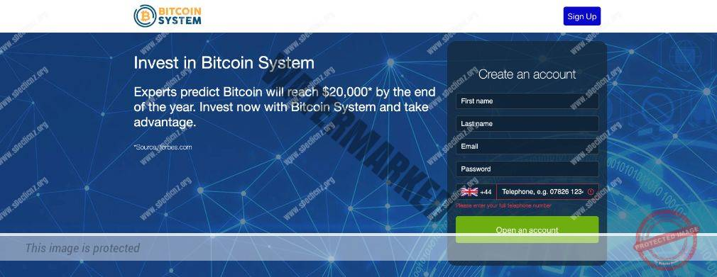 Bitcoin System Platforma