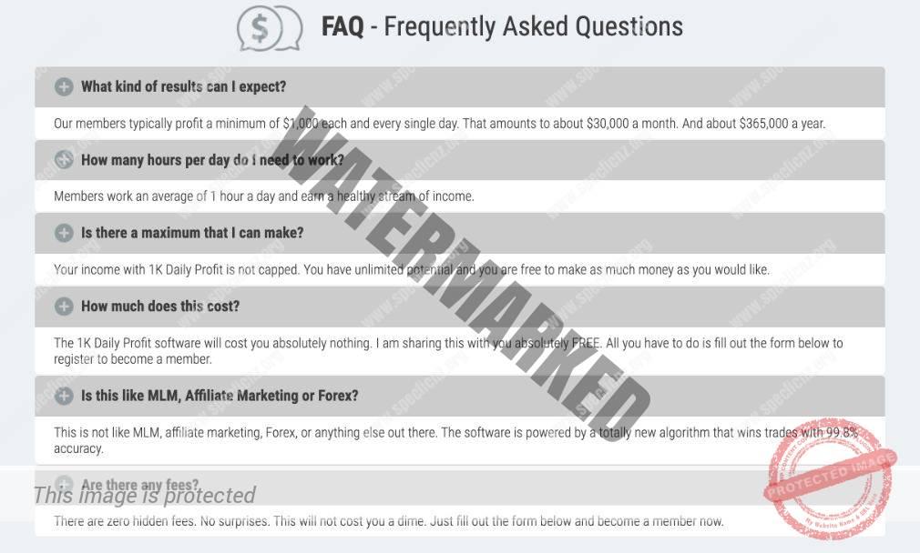 1k Daily Profit FAQ