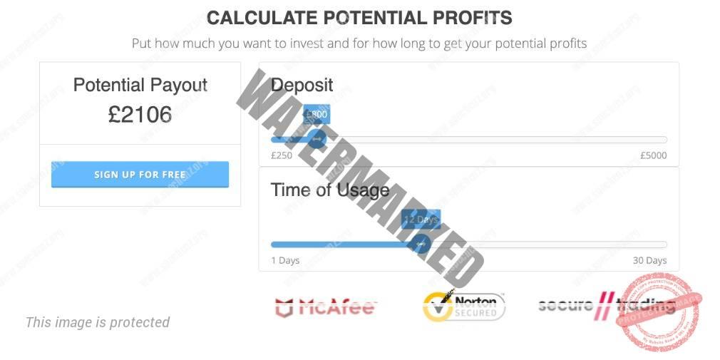 BitQT calculator of success