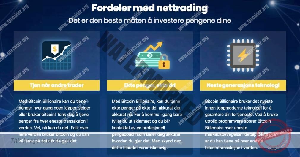 Bitcoin Billionaire fordeler