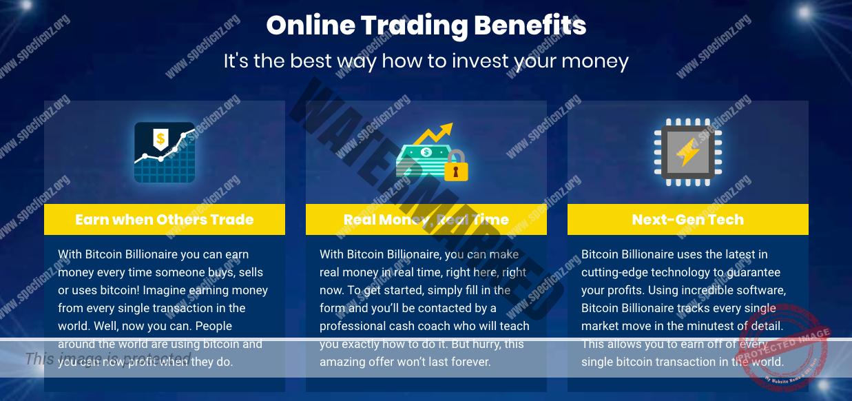 Funcionalidades do Bitcoin Billionaire