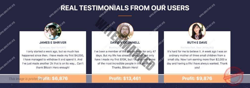Bitcoin Hero real testimonials
