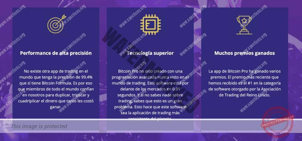 Bitcoin Pro Características