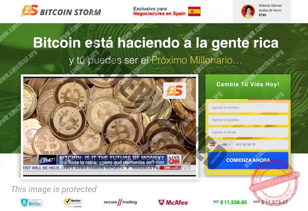 Bitcoin Storm ¿Broker Confiable y Seguro?