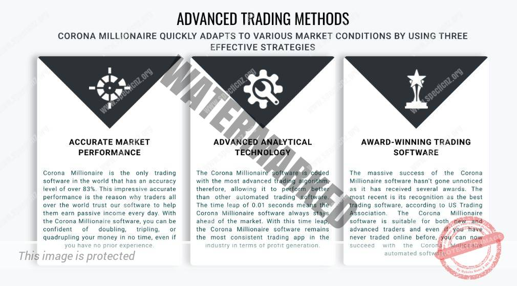 Corona Millionaire advanced trading methods