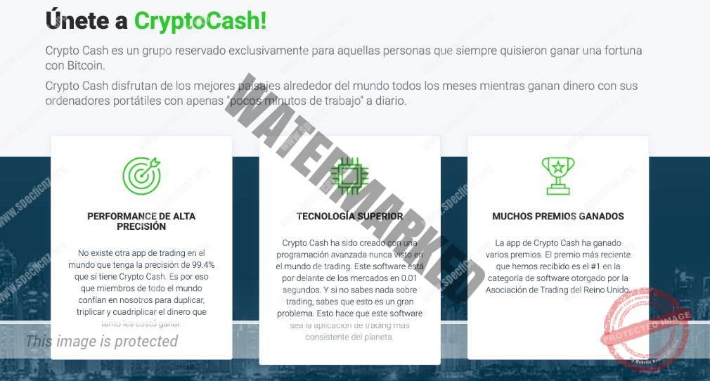 Características importantes de Crypto Cash