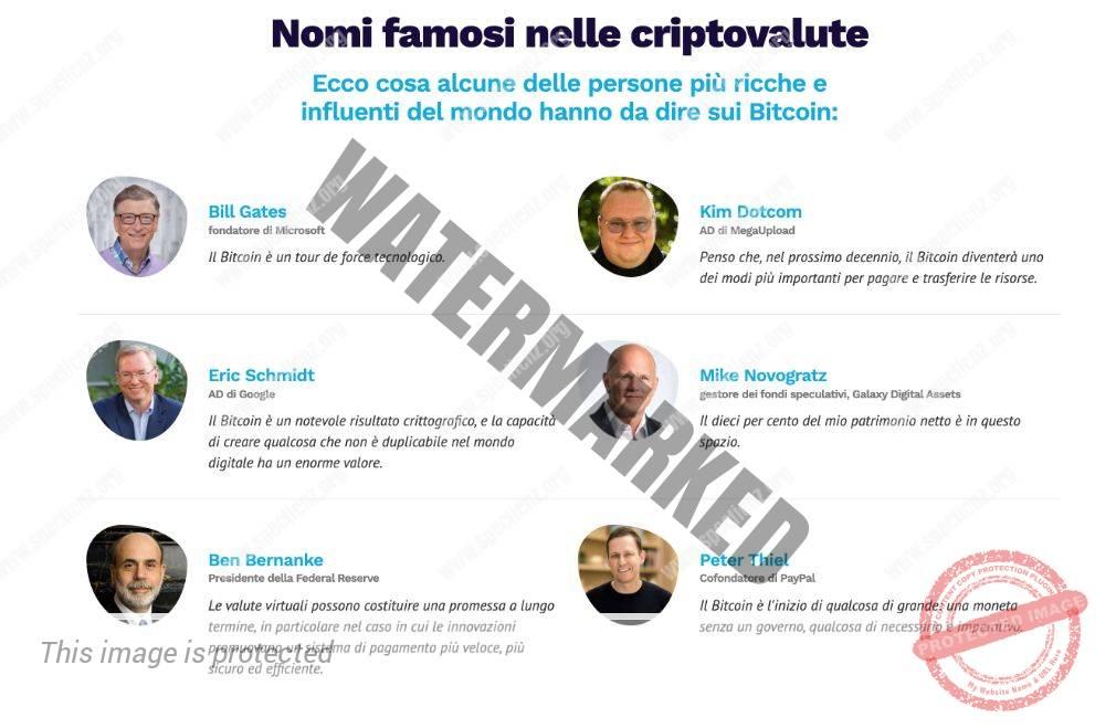 Crypto Engine Investitori famosi