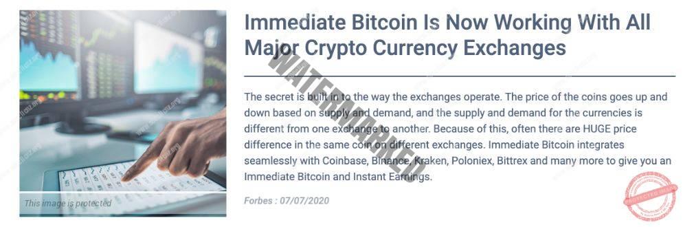 Immediate Bitcoin news