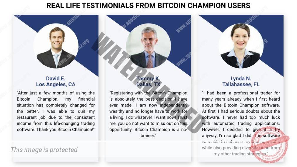 Bitcoin Champion Użytkownicy