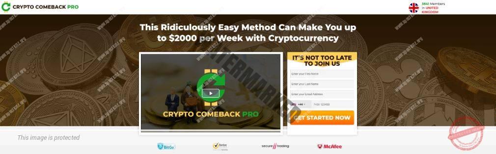 Crypto Comeback Pro ¿Broker Confiable y Seguro?