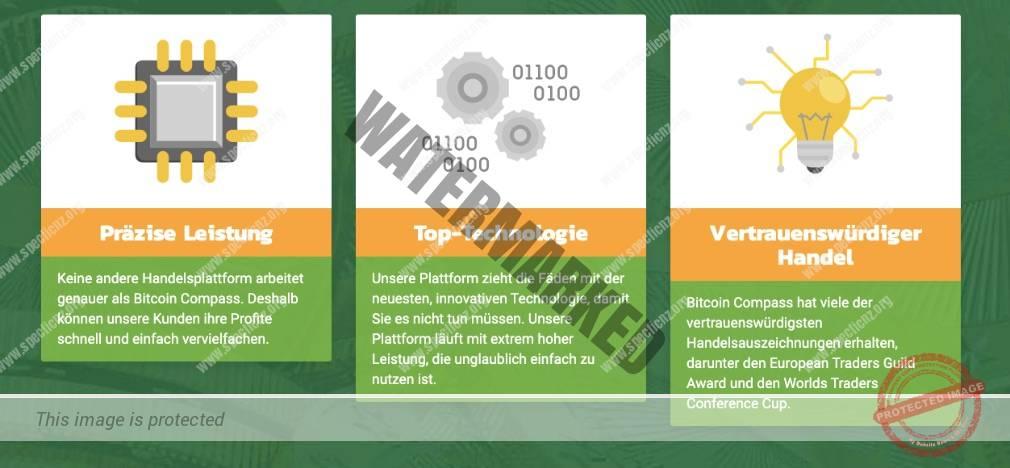 Bitcoin Compass Eigenschaften