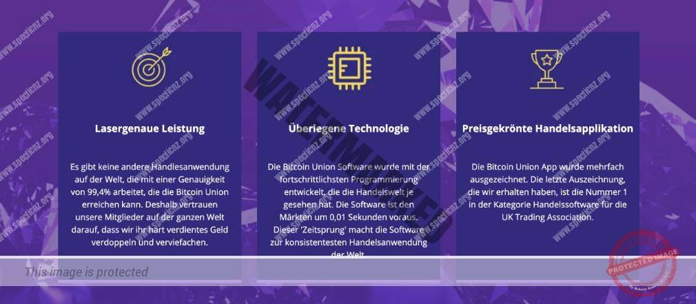 Bitcoin Union Eigenschaften