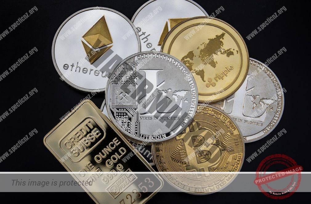 Kryptowährungen Bitcoin, Ethereum und Litecoin